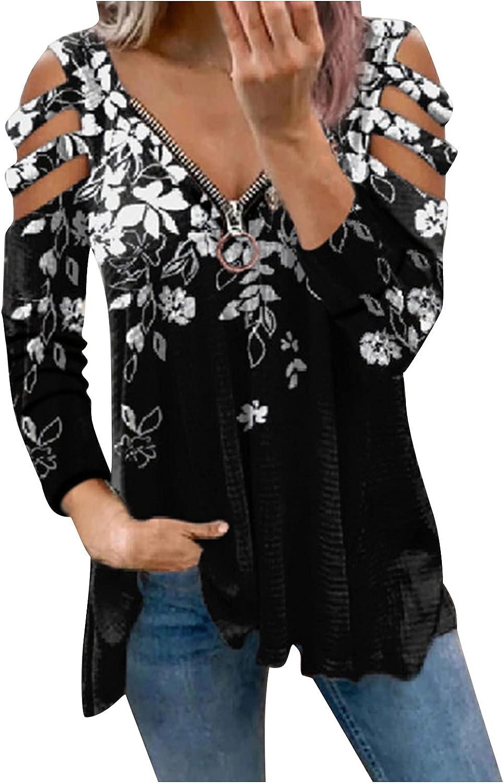 Women Long Sleeve Shirts,Kirbyates Oversized Sweatshirt for Women Vintage Graphic Long Sleeve Casual Loose Crewneck Pullover Sweaters Tops Shirts Black