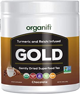 Sponsored Ad - Organifi - Gold Chocolate - Superfood Supplement Powder - 20 Day Supply - Experience Deeper Sleep - Immunit...