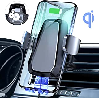 Wireless Car Charger Mount, Automatic Clamping 10W Qi Fast Charging Car Phone Holder Dashboard Air Vent Compatible Samsung Galaxy S10/S10+/S10e/S9/S9+/S8/S8+, 8/X/XS/XS Max