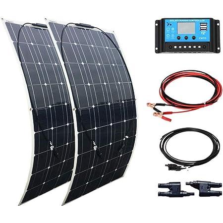 Pannello Solare Flessibile 12V Pannello Solare monocristallino Pannello Solare Impermeabile Pieghevole per Camper roulotte tetti Barche Camper