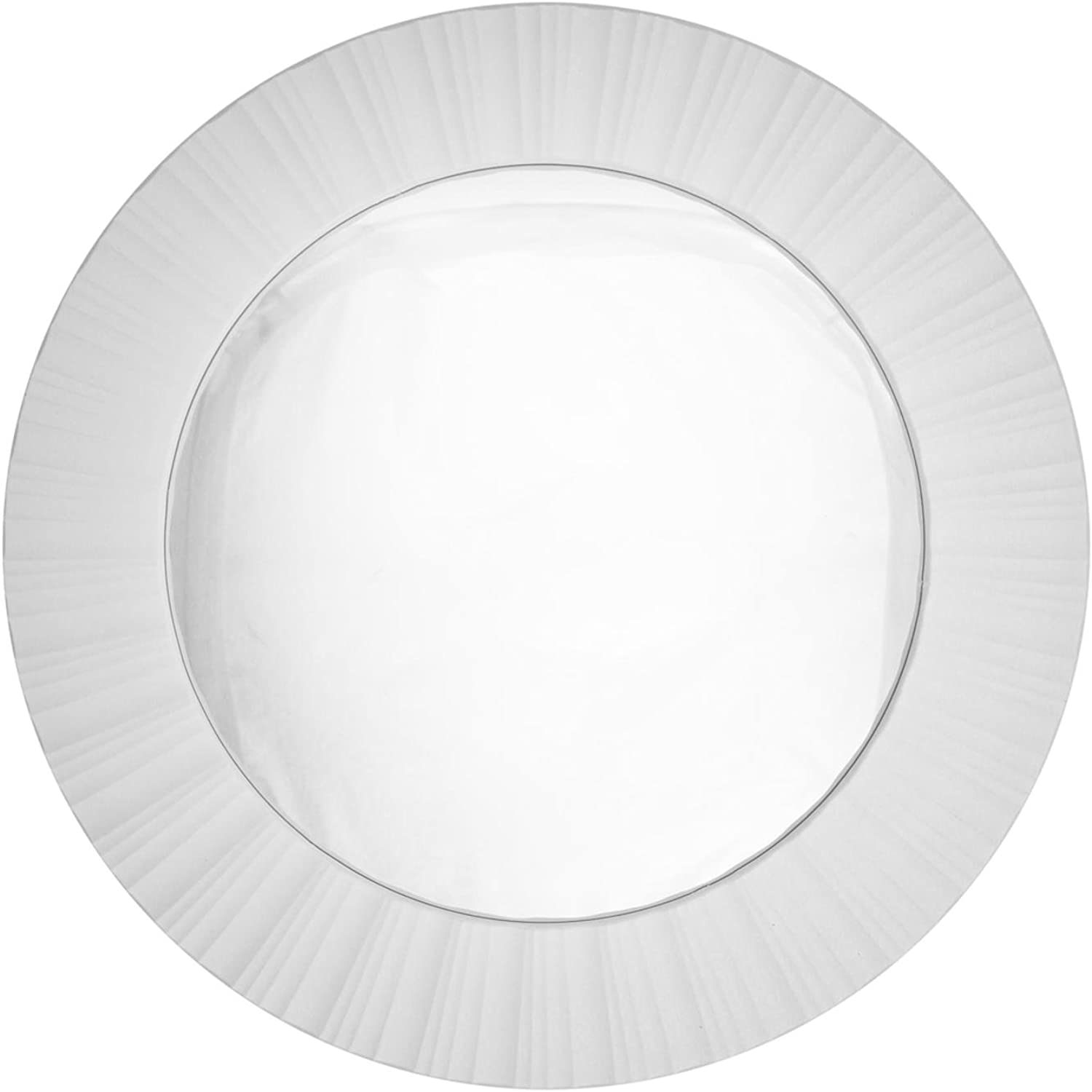 Northlight Simply Elegant Fluted Frame Decorative Round Wall Mirror, 20 , White