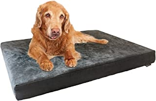 Dogbed4less Memory Foam Dog Bed | Pressure-Relief Orthopedic, Internal Waterproof Case and 2 Washable External Covers | Multiple Sizes, Colors