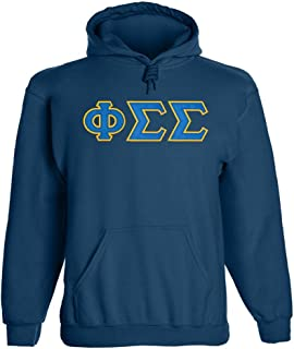 Phi Sigma Sigma Twill Letter Hoody Navy XL