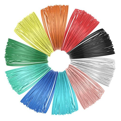 KDOI Pack of 10 3D Printer Filament for 3D Printing Pen Multicolour Pack 1.75 mm Poly Milk