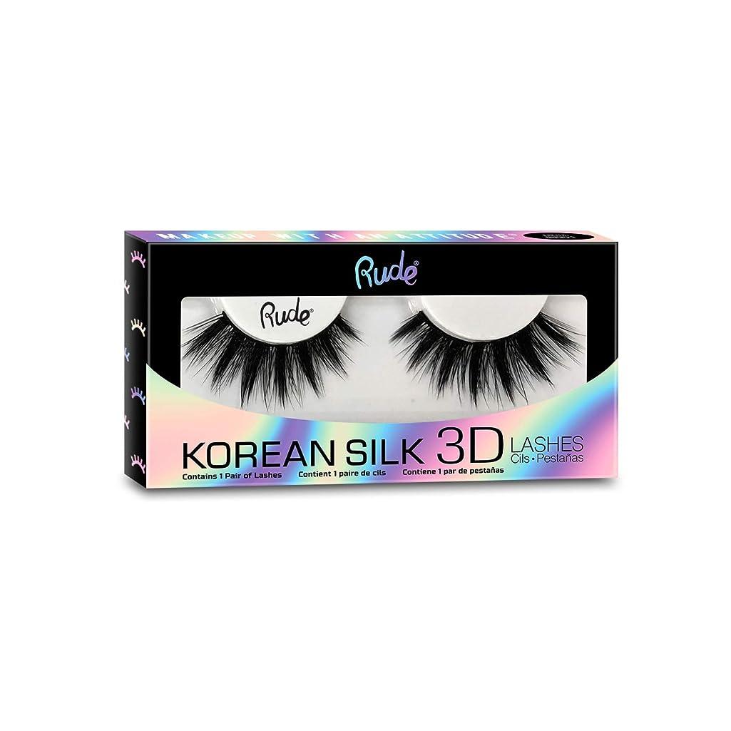 スピリチュアル息を切らしてジャンク(6 Pack) RUDE? Korean Silk 3D Lashes - Superlative (並行輸入品)
