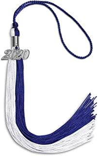 Endea Graduation Double Color Tassel With Silver Date Drop