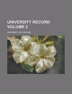 University Record Volume 2