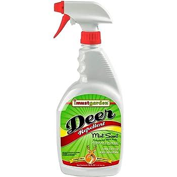 I Must Garden Deer Repellent: Mint Scent Deer Spray for Gardens & Plants – Natural Ingredients – 32oz Ready to Use