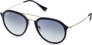 RAY-BAN RB4253 Square Sunglasses, Black/Grey Gradient, 53 mm