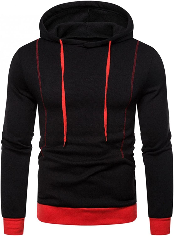 Aayomet Men's Pullover Hoodies Color Block Patchwork Long Sleeve Sweatshirts Casual Workout Sport Tops Sweaters Blouses
