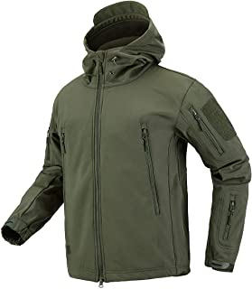 Men's Military Special Ops Tactical Jacket Warm Hooded Outdoor Soft Shell Coat