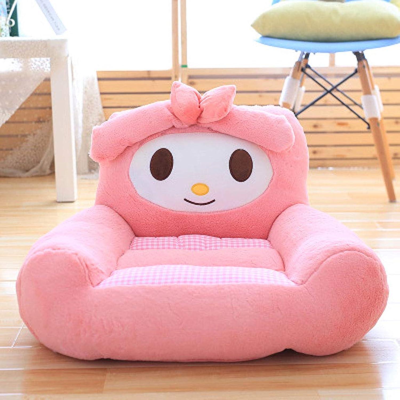 LJM- Lazy Sofa, Mini Cartoon Plüsch Stoff Lazy Sofa Seat - abnehmbar und waschbar (Farbe   D)