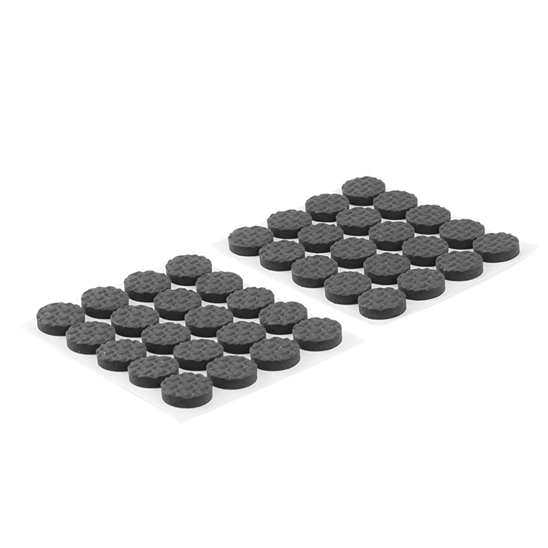 あまりにも解明する基準uxcell 家具フットパッド テーブル足 EVA 自己粘着 フロア保護 ブラック 15mm直径 40個入り