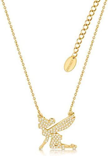 Disney Tinker Bell - Silhouette Crystal collier 'or Plated'