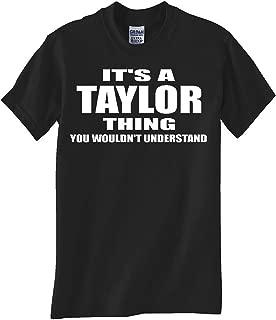 Gildan Taylor Thing Black TEE Shirt