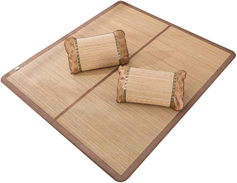 Bamboo Mattress, Bed Sleeping Mat Summer Foldable Smooth Soft Breathable Cool Pad,Summer Sleeping Mat,1-Piece Set,120  190cm