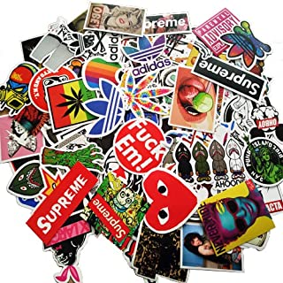 Sticker Pack [100pcs],Sanmatic Sticker Decals Vinyls for Laptop,Cars,Motorcycle,Bicycle,Skateboard Luggage,Bumper Stickers Hippie Decals Bomb Waterproof … (D)