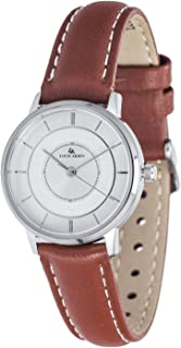 Louis Arden for Women Analog Leather Watch - LA5004L-BW-SV-SV