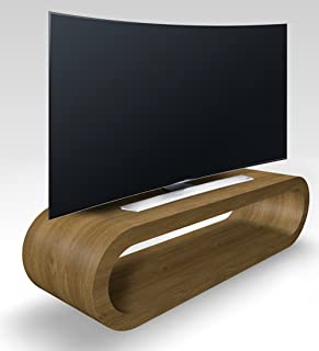 Zespoke Diseño Aro Estilo Retro Roble Grande Pippy Mate Soporte TV/Gabinete de 110cm