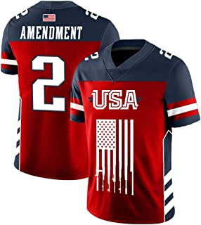 5b6696faa Greater Half Custom 2nd Amendment Football Jersey (Small-XXXXL)