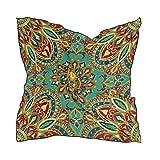 ALARGE - Bufanda cuadrada de seda india tribal floral protector solar ligero y suave pañuelo para mujeres y niñas