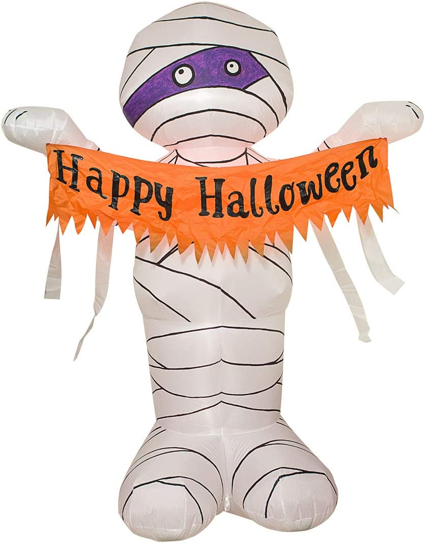 TRMESIA Don't miss the campaign New York Mall 8FT Halloween Inflatable Huge Mummy Decoration