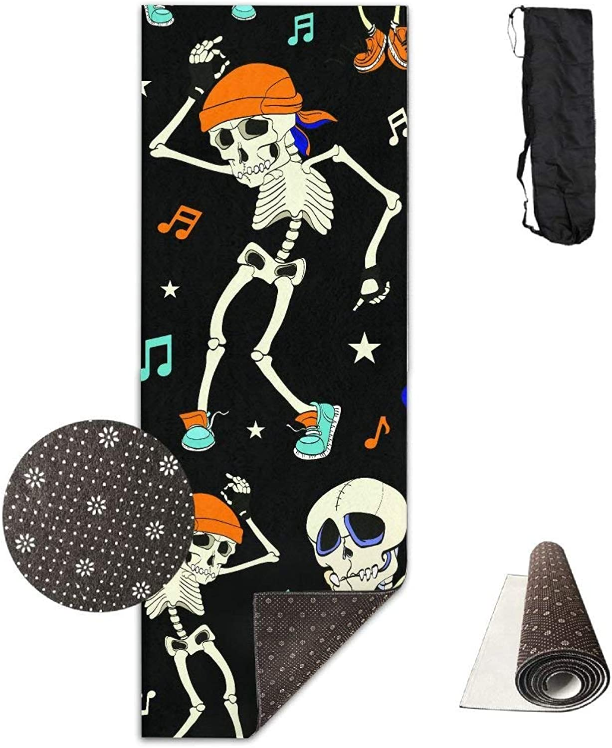 Dancing Skeletons Party Halloween Yoga Mat Towel for Bikram Hot Yoga, Yoga and Pilates, Paddle Board Yoga, Sports, Exercise, Fitness Towel