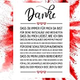 Close Up Danke Zitate Poster - Deko Geschenk zum