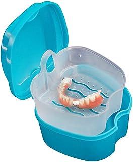 Boîte à Dentier avec Panier Boîte de Rangement Appareil Dentaire Bleu pour Protège Dents Bleu Clair,Prothèse dentaire Sall...