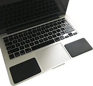 COCO AND TOFFEE | Black Ultra-Light Slim Wrist Palm Pads for MacBook 13
