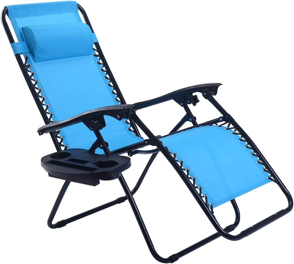 Goplus Folding Zero Gravity Lounge Chair