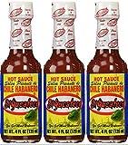 El Yucateco Chile Habanero Salsa Roja 120 ml (Paquete de 3) con tarjeta de recetas