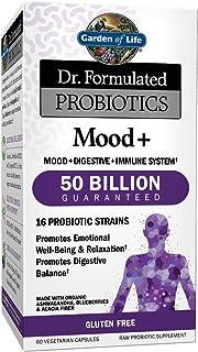 Garden of Life Dr. Formulated Probiotics Mood+ - Promotes Emotional Health, Relaxation, Digestive Balance - Non-GMO Probio...
