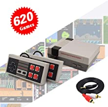 Retro Game Console Mini Video Game System with 620 Classic Games for Kids Adult, Upgraded Family Game Entertainment System Game Console with Dual 10 Keys Controller, Plug & Play