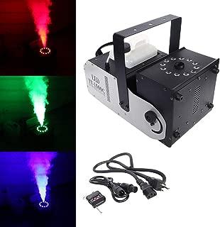 Tengchang DMX Smoke Fog Machine RGB w/Remote 12 LED 1500W 3 in 1 Spray Angle Adjustable