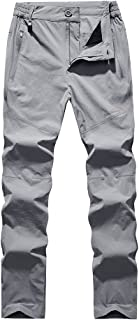 Loose Casual Waterproof Pants Hiking Pants for Outdoor Sport Women's Light Grey Quick Dry Pants Cloth (Size : M)