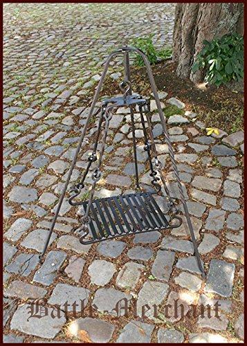 Battle-Merchant Grillrost für Dreibein aus Stahl, handgeschmiedet - Grill - Outdoor - Garten - Mittelalter - LARP