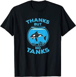 TIANLANGHB No Tanks - Awareness T-Shirt -Protect Animals Tshirt - Love T-Shirt