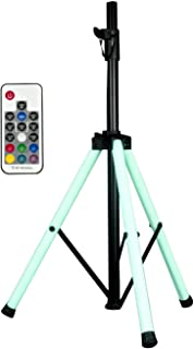 American Audio LED color changing tripod leg speaker stand with remote