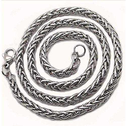 Collares Colgante Joyas Collar De Cadena De Acero Inoxidable 316L para Hombres Cadena De Cuello Grueso Masculino-8Mm_60Cm