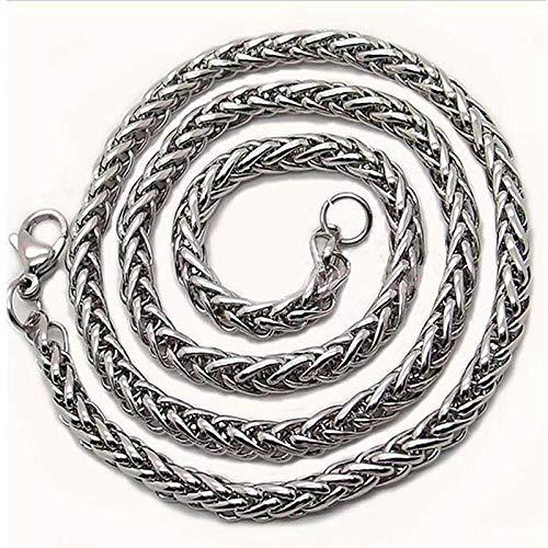 Collares Colgante Joyas Collar De Cadena De Acero Inoxidable 316L para Hombres Cadena De Cuello Grueso Masculino-3Mm_50Cm