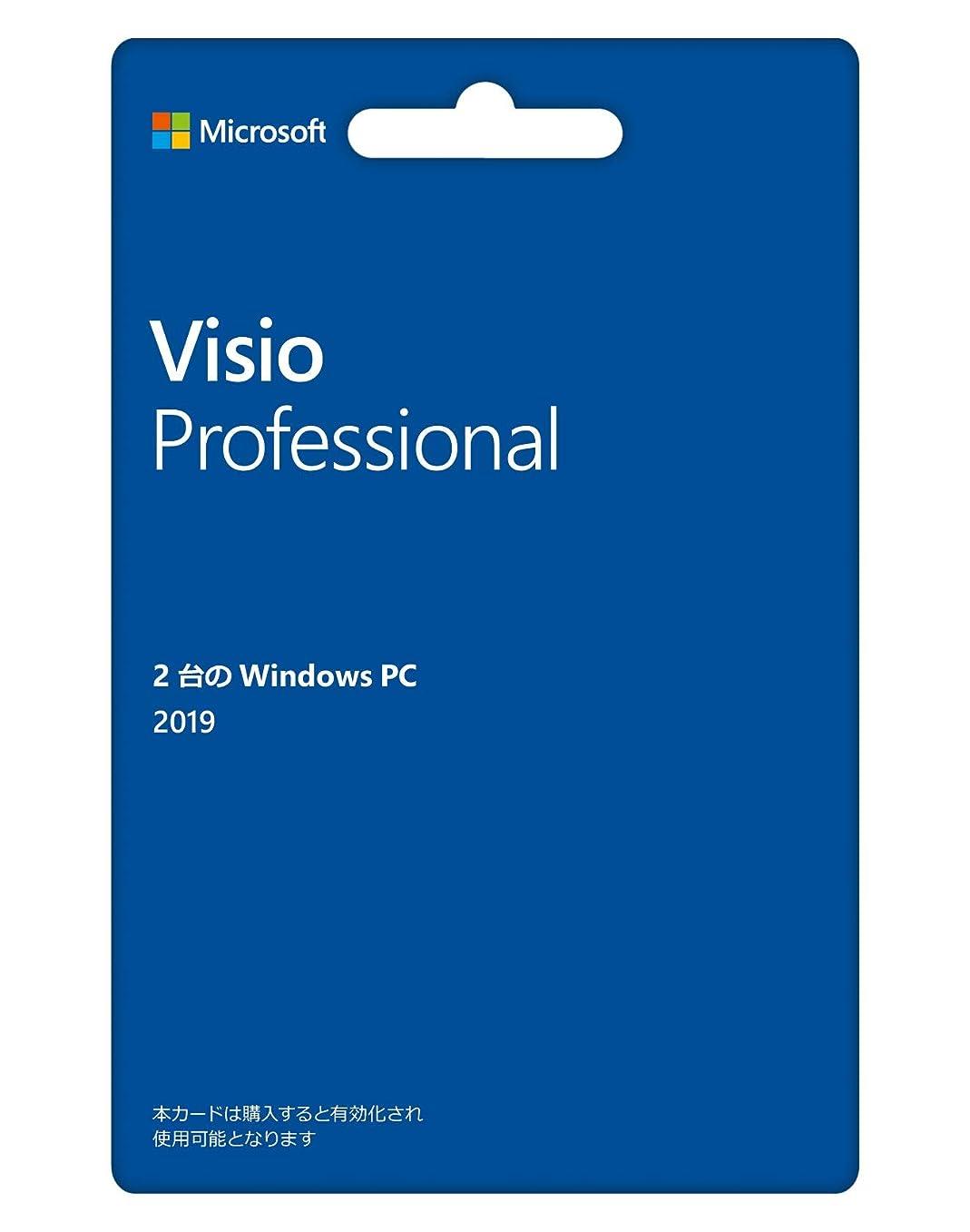 期待して化石リサイクルするMicrosoft Visio Professional 2019(最新 永続版)|カード版|Windows10|PC2台