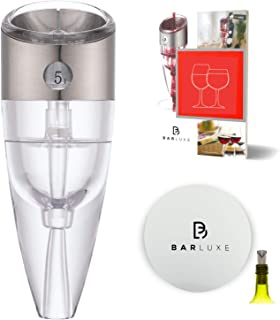 Wine Aerator, Wine Pourer - Best Wine Gifts for Women or Men - Instantly Aerate & Enhance Taste - Red Wine Aerator Decanter Set with Bonus Wine Pourer Disc & eBook 'Aerating Tips & Wine Accessories'