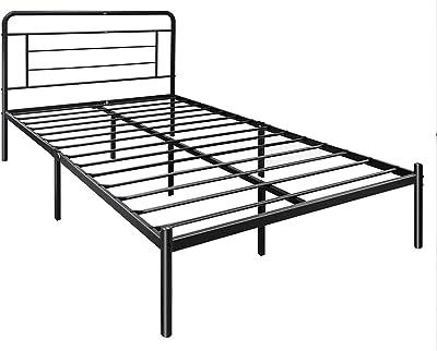 Amazon Basics Modern Studio 14-Inch Platform 1500H Metal Bed Frame, Full