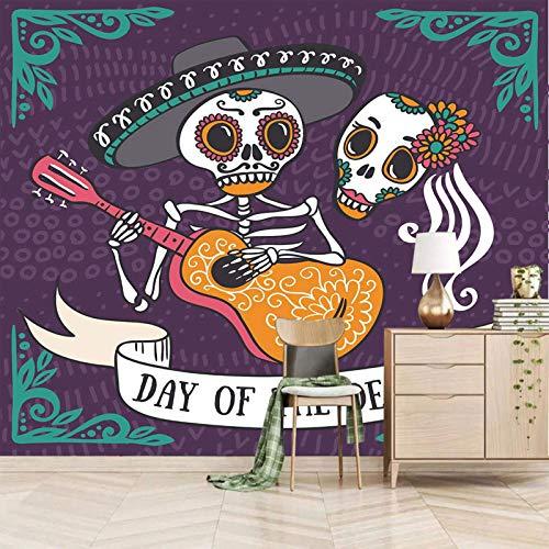 ZEISIX 3d wandbild fototapete küche hintergrundbilder/Cartoons Skelette Gitarren Paare/fürs wohnzimmer kinderzimmer schlafzimmer küche büro junge flur babyzimmer abstrakt deko mädchen jugendzimmer