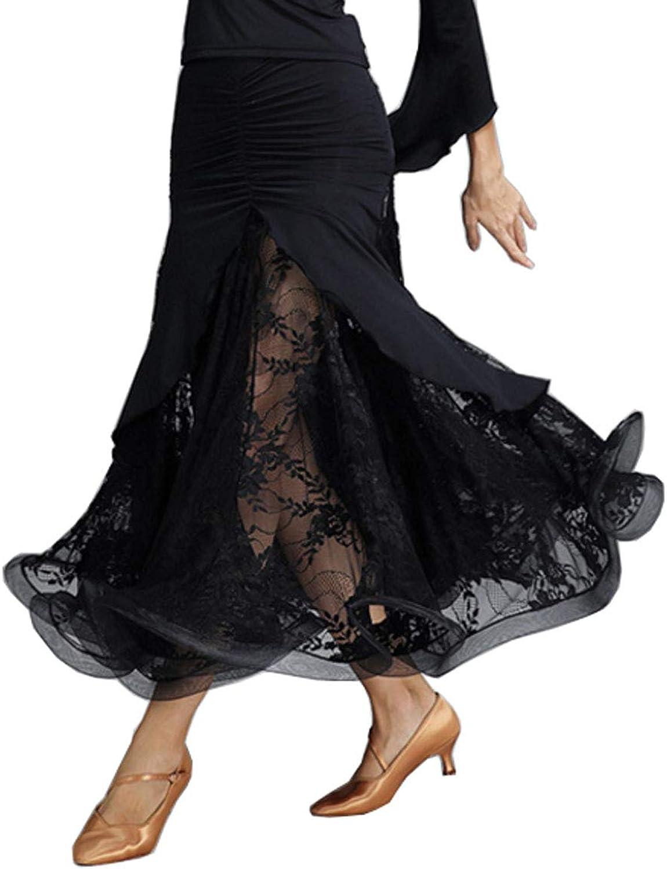 CHAGME Modern Dance Skirt ice Silk Latin Skirt Tango Dress Samba Skirt