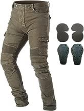 Takuey Men Motorcycle Riding Pants Denim Jeans Protect Pads Equipment