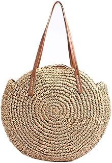 DUBUK womens Straw Bag