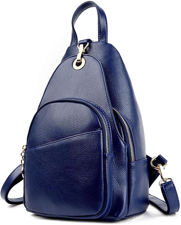 XJZJIA Tasche Damentasche Umhängetasche Umhängetasche Umhängetasche Ledertasche Multifunktionsrucksack, blau B07KN64MBH  Viele Stile 7c0880