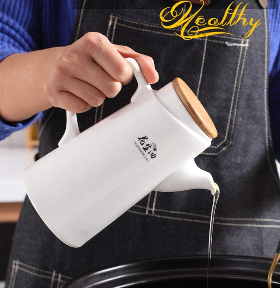Palet de Madera,para Cocina y Comedor LAYG 500ML Botella Dispensadora de Aceite Aceitera de Cer/ámica